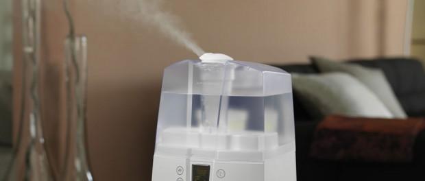 Luftbefeuchter gegen trockene Raumluft