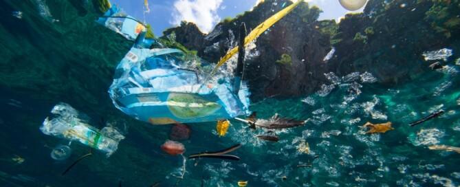 Plastikmüll in Ozeanen