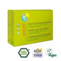 Sonett Spülmaschinen Tabs aus pflanzlichen Inhaltsstoffen mit Eco Garantie Zertifikat