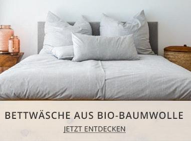 Bettwäsche aus Bio Baumwolle
