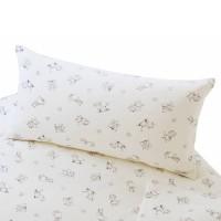 Kindliche Motive von Mäusen zieren die Bettwäsche aus Satin