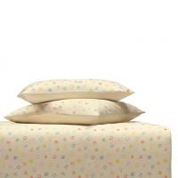 Kinder Bettwäsche oder Kissenbezug Kritzelkreise in Baumwoll-Satin