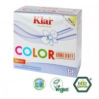 Klar Color Waschmittel sensitive. Farbschondendes Waschen bei niedrigen Temperaturen