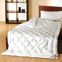 Bettdecke mit Füllung aus feiner Kaschmir Wolle mit Bezug aus Bio Baumwolle