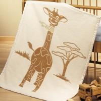 Kuschel- und Spieldecke aus 100% Bio Baumwolle mit Motiven aus Afrika