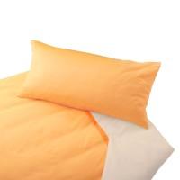 Natur Bettwäsche in Biber-Qualität und Farbkombination Gelb/Natur
