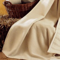 Naturdecke Anne, reine kbA Bio-Baumwolle, naturfarben, pflegeleicht waschbar