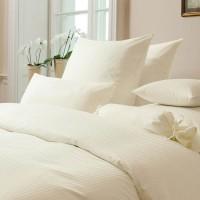 Mako Brokat-Damast Bettwäsche aus naturreiner Baumwolle, in Farbe Natur