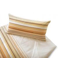 Kissenbezug im Streifen-Design, passend zur Bettwäsche Sonate Abricot/Creme