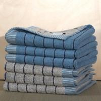 Zweiseitiges Handtuch in Bio Qualität, 50% Bio Baumwolle, 50% Leinen
