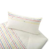 Cotonea Satin Kinder Bettwäsche Stripy, kindliches Streifen-Dessin
