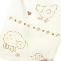 Kinder- und Babydecke aus natürlich gewachsener, zweifarbiger Bio Baumwolle