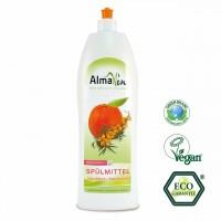 Spülmittel mit Sandorn Mandarine Duft. Kraftvolle Reinigung mit wohltuendem Duft.