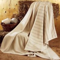 Decke Homer mit Streifen aus 100% Bio Baumwolle