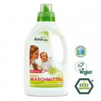 Flüssiges Waschmittel für weiße, bunte und dunkle Wäsche. Schont Farben und Fasern.