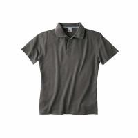 Herren Polo kurzarm, DH 230, asphalt (dunkelgrau), Hanf/Bio Baumwolle, Gr. S